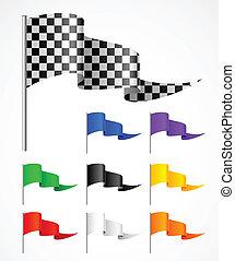sport flag - triangular sport flag