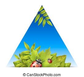 Triangular spring background