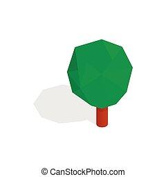 Triangular tree icon, isometric 3d style