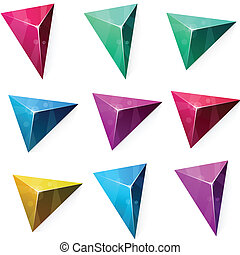 Triangular vibrant pyramid.