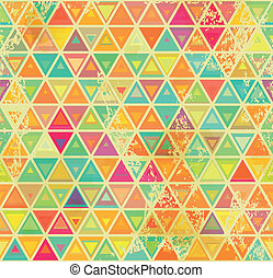 Triangular vintage grange seamless - Abstract geometrical...