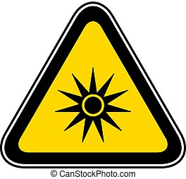 Triangular Warning Hazard Symbol
