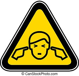 Triangular Warning Hazard Symbol - Triangular yellow Warning...