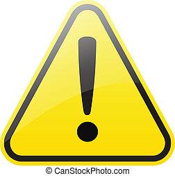 warning sign - triangular warning sign isolated on white (...