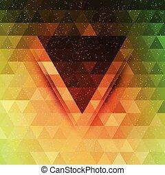 triangulo, abstratos, vetorial, futuro, fundo