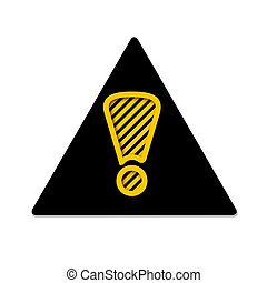 triangulo, com, ponto de exclamação