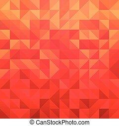 triangulo, cor, padrão, abstratos, modernos, -, ilustração, vetorial, desenho, experiência vermelha, azulejo, geomã©´ricas, element.