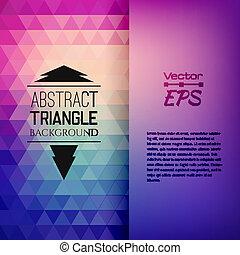 triangulo, padrão, formas, retro, geomã©´ricas, mosaico