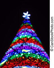 triangulo, poder, abstratos, árvore, iluminação, natal