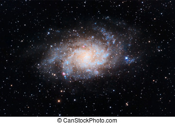 Triangulum Galaxy captured with an amateur telescope