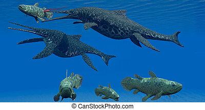 Triassic Shonisaurus Marine Reptile