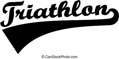 triathlon, 単語, レトロ