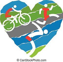 triathlon, amour