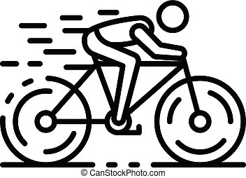 Triathlon bicycle icon, outline style