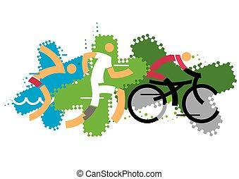 triathlon, concurrents