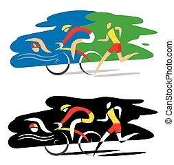 triathlon, course