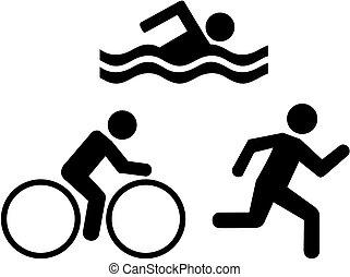 triathlon, heiligenbilder