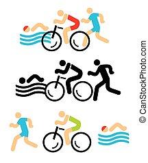 Triathlon icons