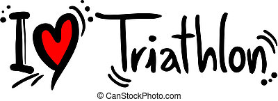 Triathlon love - Creative design of triathlon love