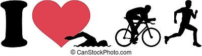 triathlon, miłość, sylwetka