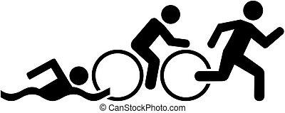 triathlon, piktogramm