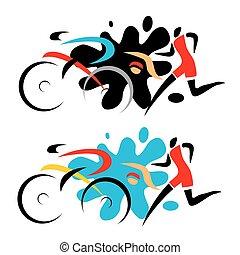 triathlon, race.