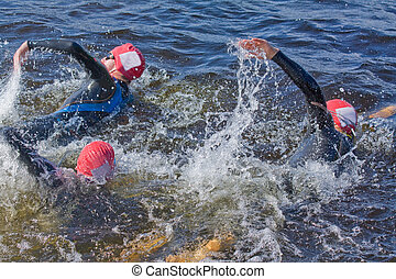 triathlon, schwimmer