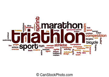 Triathlon word cloud concept