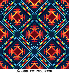 Tribal abstract seamless pattern aztec geometric background.