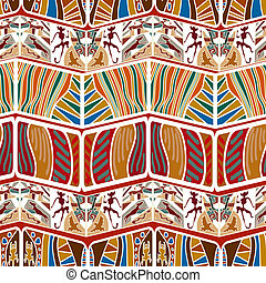 Tribal Abstract seamless pattern in the African style. Vector il