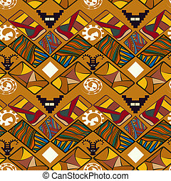 Tribal Abstract seamless texture in the African style. Vector il