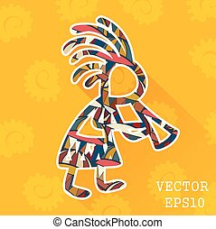 Tribal African man. Vector