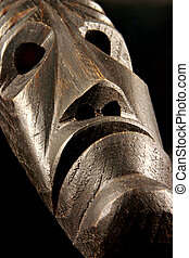 Tribal african mask - A brown tribal african mask, a sign of...