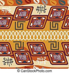 Tribal African seamless texture.