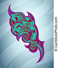 Tribal art abstraction