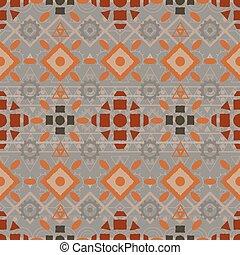 Tribal art boho seamless pattern