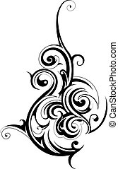Decorative shape created in tribal art style