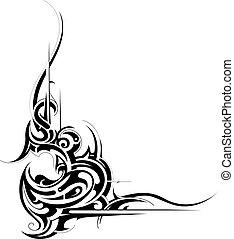 Tribal art - Decorative tribal art tattoo isolated on white