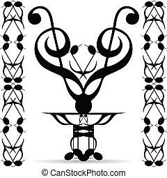 Tribal art elements