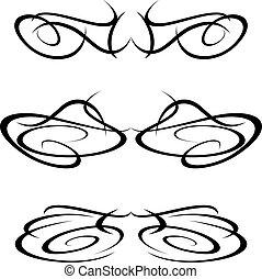 Tribal art tattoo design elements