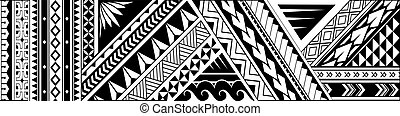 Tribal art tattoo design for sleeve area