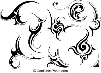 Tribal art - Set of tribal art patterns isolated on white