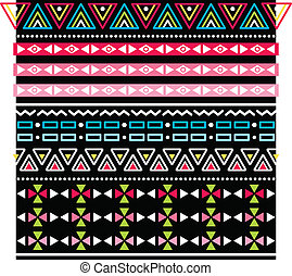 Tribal aztec seamless pattern