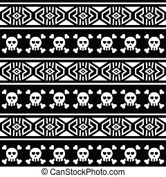 Tribal Aztec seamless pattern with