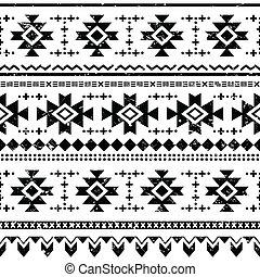 Tribal aztec vector retro seamless