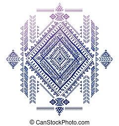 Tribal Aztec vintage pattern