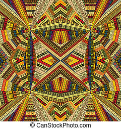 Tribal background with optical effect