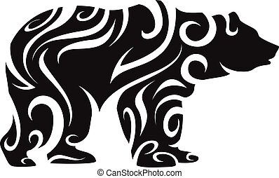 tribal bear silhouette