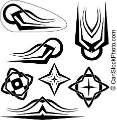 Tribal Bike Decal : Vinyl Ready, Vehicle Graphics Vector ...