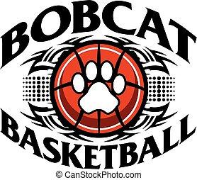 bobcat basketball - tribal bobcat basketball team design for...